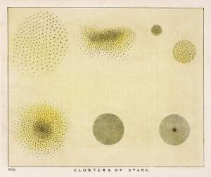 Diagram Showing Various Clusters of Stars by Charles F. Bunt