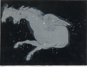 Lying Near the Head of the Figure of Andromeda Lies the Constellation of Pegasus by Charles F. Bunt