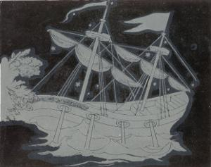 The Constellation Arco Navis Which Takes the Form of a Sailing Ship by Charles F. Bunt