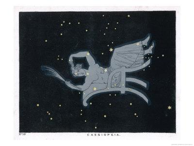 The Constellation of Cassiopeia a Woman Seated