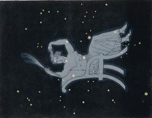 The Constellation of Cassiopeia a Woman Seated by Charles F. Bunt