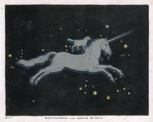 The Constellation of Monoceros, a Unicorn, and Canis Minor, a Small Dog by Charles F. Bunt