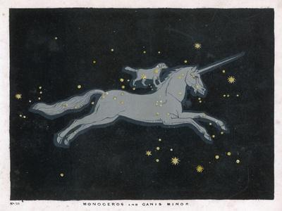 The Constellation of Monoceros, a Unicorn, and Canis Minor, a Small Dog