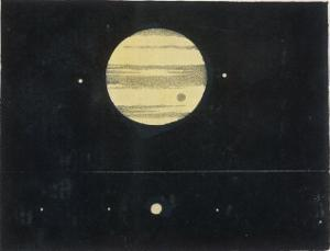 View of Jupiter Showing Its Moons and Satellites by Charles F. Bunt