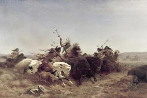 The Buffalo Hunt by Charles Ferdinand Wimar