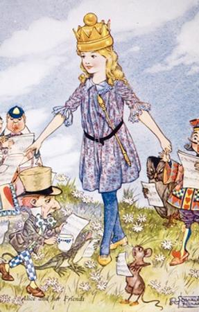 Alice and Her Friends by Charles Folkard