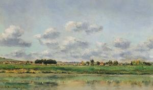 Banks of the Loing, Late 1860S by Charles-Francois Daubigny