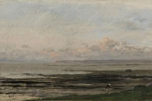 Beach at Ebb Tide by Charles Francois Daubigny