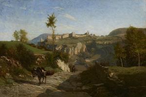 Landscape Near Crémieu by Charles Francois Daubigny