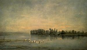 Le Marais de Canards by Charles Francois Daubigny