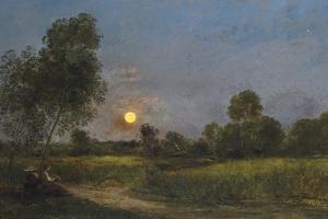 Moonrise, 1887 by Charles Francois Daubigny