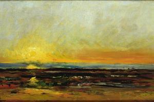 Sunset on the Sea Coast by Charles Francois Daubigny