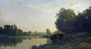 The Banks of the Oise, Morning, 1866 by Charles-Francois Daubigny