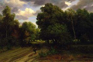 The Crossroads of the Eagle's Nest, Fontainebleau Forest, 1843-44 by Charles Francois Daubigny