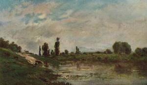 The Drinking Place, c1827-1878, (1906-7) by Charles-Francois Daubigny