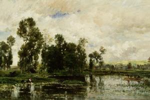 The Edge of the Pond, 1873 by Charles Francois Daubigny