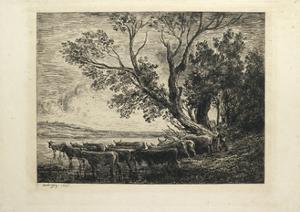 The Ford, 1865 by Charles Francois Daubigny