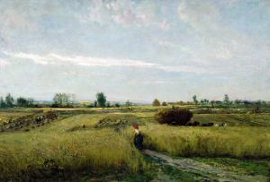 The Harvest, 1851 by Charles-Francois Daubigny
