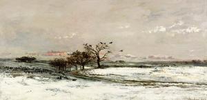The Snow, 1873 by Charles-Francois Daubigny