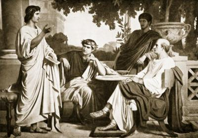Virgil, Horace and Varius at the House of Maecenas