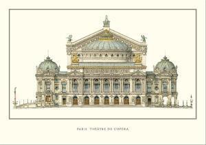 Paris, Theatre de l'Opera, Paris by Charles Garnier