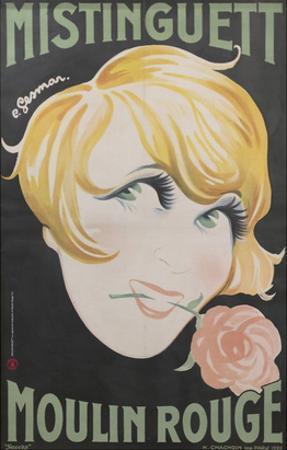 1925 Mistinguett Moulin Rouge by Charles Gesmar