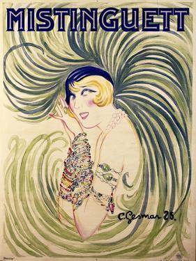 Mistinguett, 1925 by Charles Gesmar
