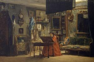 Princess Mathilde in Her Art Studio by Charles Giraud