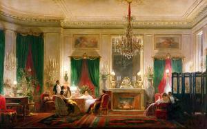 Salon of Princess Mathilde Bonaparte Rue de Courcelles, Paris, 1859 by Charles Giraud