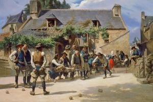 The Game of Boules at Pont-Aven, 1869 by Charles Giraud