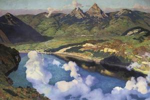 Cradle of the Confederation (Panorama of Lake Lucerne) by Charles Giron