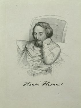 Portrait of the Poet Heinrich Heine (1797-185), 1851 by Charles Gleyre