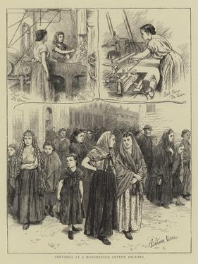 Sketches at a Manchester Cotton Factory by Charles Green