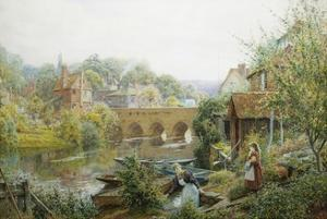 A Summer's Day, Abingdon, Oxfordshire, England by Charles Gregory
