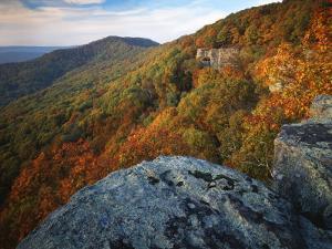 Autumn at White Rocks, Ozark-St. Francis National Forest, Arkansas, USA by Charles Gurche
