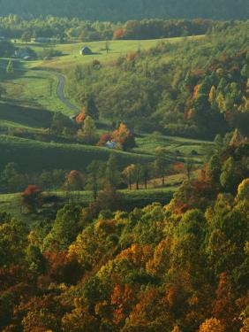 Autumn, Blue Ridge Parkway, Virginia, USA by Charles Gurche