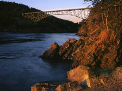 Bridge, Deception Pass State Park, Washington, USA by Charles Gurche