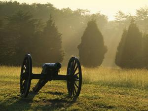 Cannon in Fog, Manassas National Battlefield Park, Virginia, USA by Charles Gurche