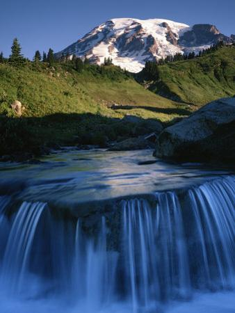 Cascade below Mt. Rainier, Mt. Rainier National Park, Washington, USA by Charles Gurche