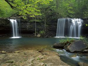 Cascades, Ozark National Forest Arkansas, USA by Charles Gurche