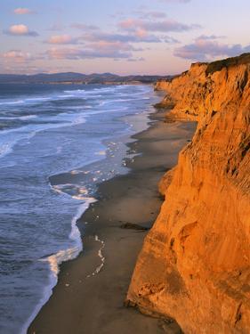 Cliffs at Pescadero State Beach, California, USA by Charles Gurche