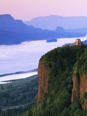 Columbia River below, Crown Point State Park, Oregon, USA by Charles Gurche