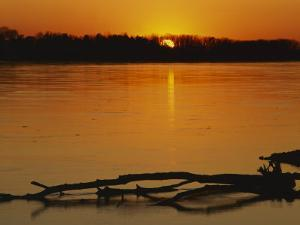 Evening on Missouri River, Callaway County, Missouri, USA by Charles Gurche