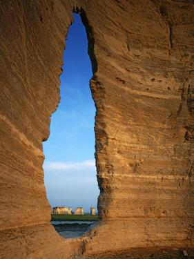 Keyhole Arch, Monument Rocks National Natural Area, Kansas, USA by Charles Gurche