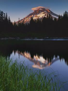Mt. Hood from Mirror Lake, Mt. Hood National Forest, Oregon, USA by Charles Gurche