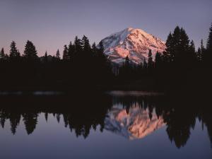 Mt. Rainier at sunset from Eunice Lake, Mt. Rainier National Park, Washington, USA by Charles Gurche