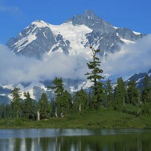 Picture Lake and Mt Shuksan, North Cascades NP, Washington, USA by Charles Gurche