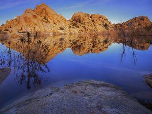 Pond in Joshua Tree National Park, Barker Tank, California, USA by Charles Gurche