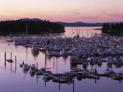 Roche Harbor Marina At dusk, San Juan Island, Washington, USA by Charles Gurche