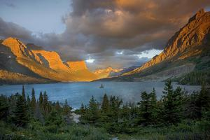 St Mary Lake at Sunrise, Glacier National Park, Montana, USA by Charles Gurche